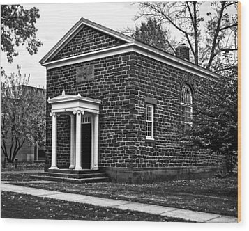 Wesleyan University Skull And Serpent Building  Wood Print