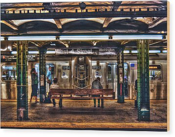 West 4th Street Subway Wood Print by Randy Aveille