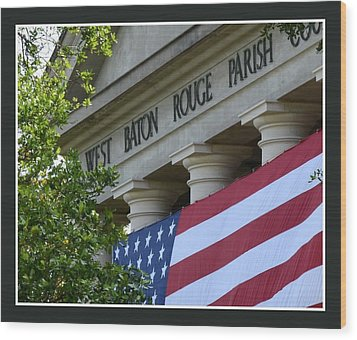 West Baton Rouge Court House Wood Print by Eunice Parker