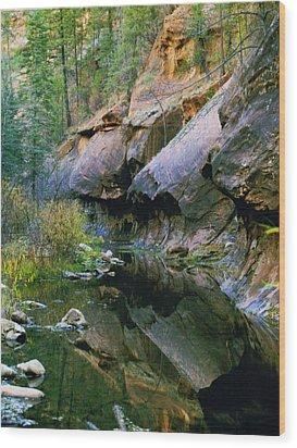 West Branch Oak Creek Wood Print by Joshua House