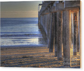 West Coast Cayucos Pier Wood Print