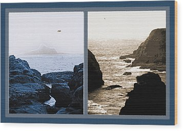 West Coast Scenes Diptych 2 Wood Print by Steve Ohlsen