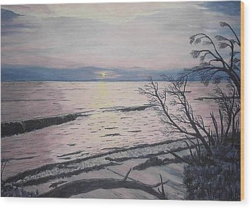 West Coast Sunset Wood Print by Hilda and Jose Garrancho