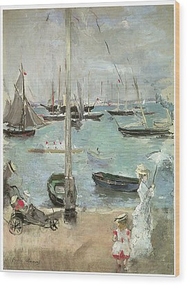 West Cowes Isle Of Wight Wood Print by Berthe Morisot