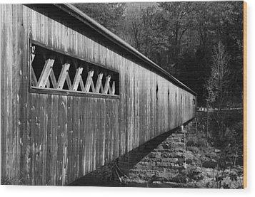 West Dummerston Covered Bridge Wood Print by Luke Moore