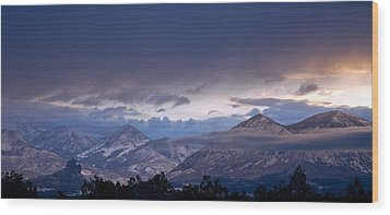 Wood Print featuring the photograph West Elk Mountains First Light by Eric Rundle