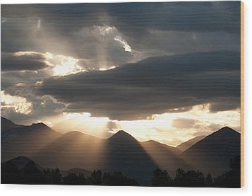 Wood Print featuring the photograph West Elk Sunbeams by Eric Rundle