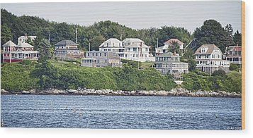 Wood Print featuring the photograph West End Long Island Maine by Richard Bean