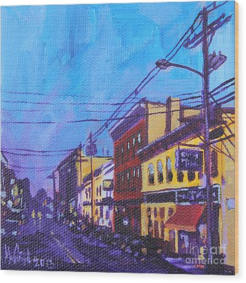 West Front Street Wood Print by Michael Ciccotello