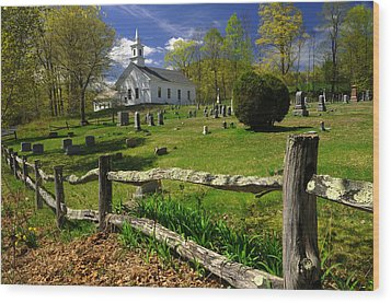 Wood Print featuring the photograph West Guilford Church by Paul Miller