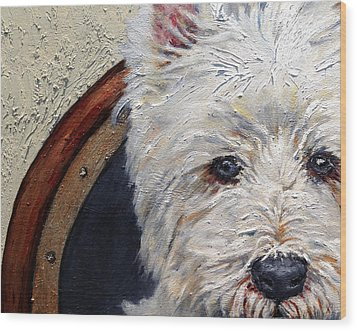 West Highland Terrier Dog Portrait Wood Print