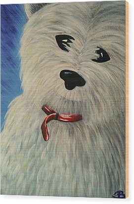 West Highland White Scottish Terrier Wood Print by Beril Sirmacek