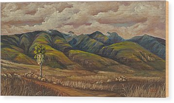 Wood Print featuring the painting West Maui Splender  by Darice Machel McGuire