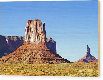 West Mitten - Monument Valley Wood Print by Douglas Taylor