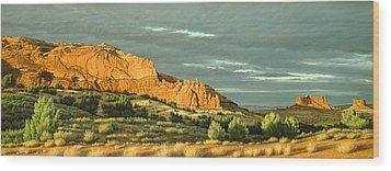 West Of Moab Wood Print by Paul Krapf