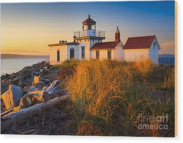West Point Lighthouse Wood Print by Inge Johnsson
