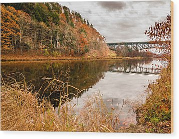 West River At Interstate 91 Wood Print