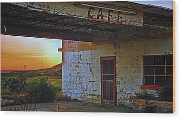 West Texas Cafe Wood Print by Brian Kerls