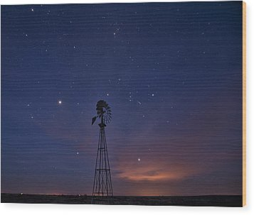 West Texas Sky Wood Print