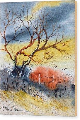 West Texas Sunrise Wood Print