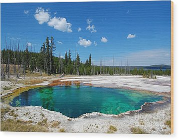 West Thumb Abyss Pool Wood Print