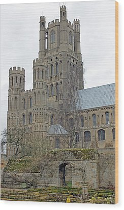 West Tower Of Ely Cathedral  Wood Print by Tony Murtagh