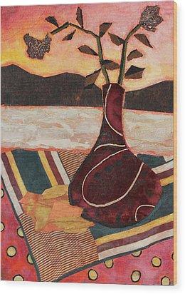 West Wind Wood Print by Diane Fine