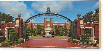 Westcott Gateway Arch - Fsu Wood Print