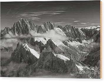 Western Alps - Panorama Wood Print by Juergen Klust