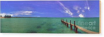 Wood Print featuring the photograph Western Australia Busselton Jetty by David Zanzinger