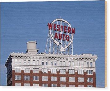 Western Auto Building Of Kansas City Missouri Wood Print by Elizabeth Sullivan