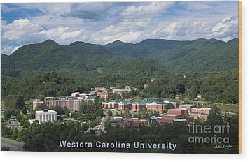 Western Carolina University Summer Wood Print