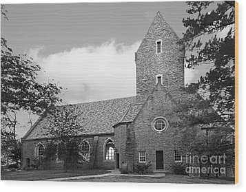 Western College For Women Chapel Wood Print by University Icons