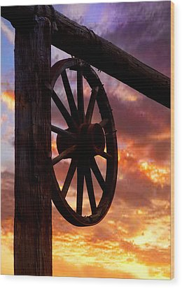 Western Gate Wood Print by Mike Flynn