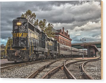 Western Maryland Scenic Railroad Wood Print by Jeannette Hunt