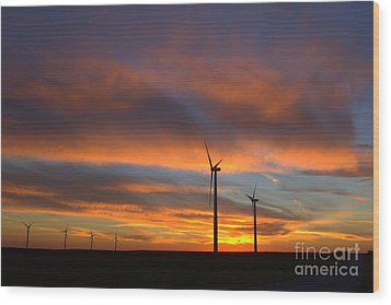 Wood Print featuring the photograph Western Oklahoma Skies 1 by Jim McCain