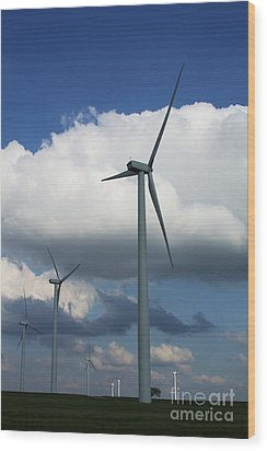 Wood Print featuring the photograph Western Oklahoma Wind Farm by Jim McCain
