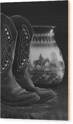Western Still Life 2 Wood Print by Kenny Francis