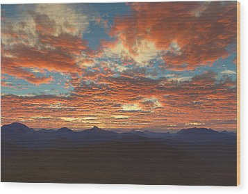 Western Sunset Wood Print by Mark Greenberg