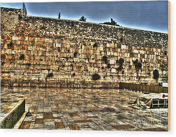 Wood Print featuring the photograph Western Wall In Israel by Doc Braham