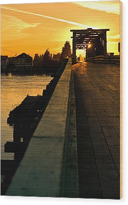 Westham Island Bridge Wood Print
