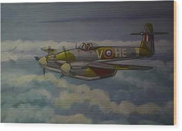 Wood Print featuring the painting Westland Whirlwind by Murray McLeod