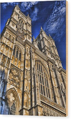Westminster Abbey West Front Wood Print