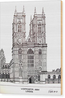 Westminster Abby - London Wood Print by Frederic Kohli