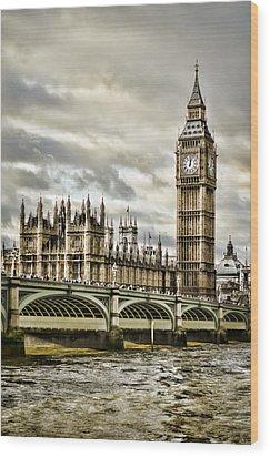 Westminster Wood Print by Heather Applegate