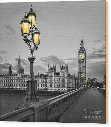 Westminster Morning Wood Print