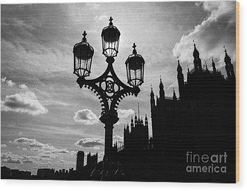 Wood Print featuring the photograph Westminster Silhouette by Matt Malloy