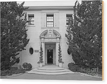 Westmont College Kerrwood Hall Wood Print by University Icons