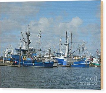 Westport Fishing Boats Wood Print