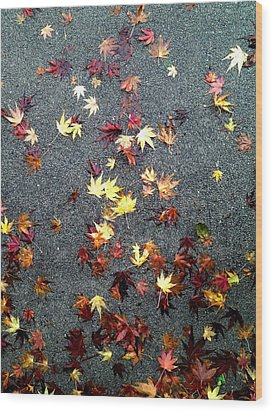 Wood Print featuring the photograph Wet Autumn by Lora Lee Chapman